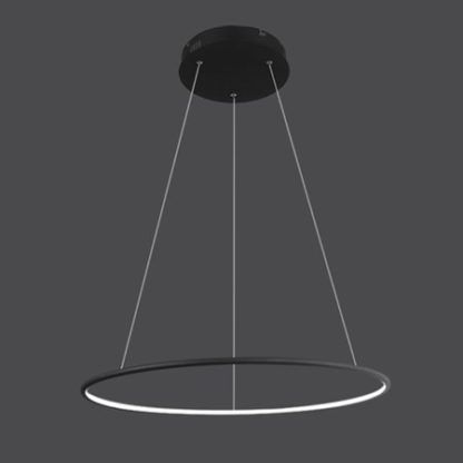 czarna lampa wisząca ring led