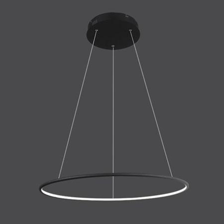 ledowa czarna lampa wisząca