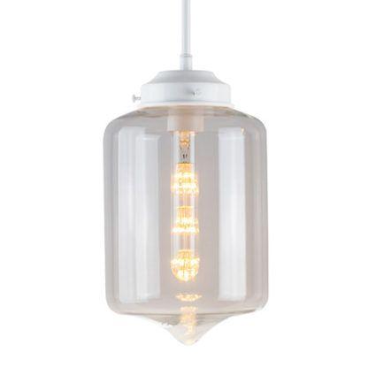 szklana lampa wisząca biała