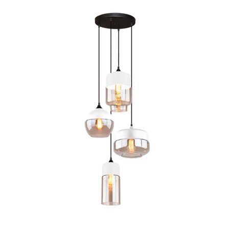 szklana lampa wisząca do salonu scandi