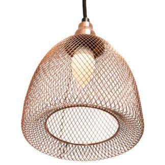 Druciana lampa wisząca Copper Chic - industrialna