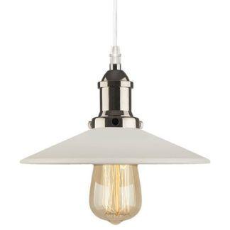 Pojedyncza lampa wisząca Eindhoven Loft - biały klosz