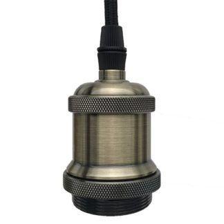 Industrialna lampa wisząca Chic - metalowe mocowanie