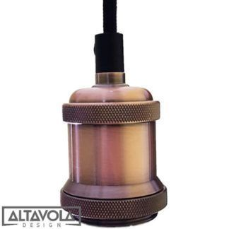 Industrialna lampa wisząca Chic - różowe złoto