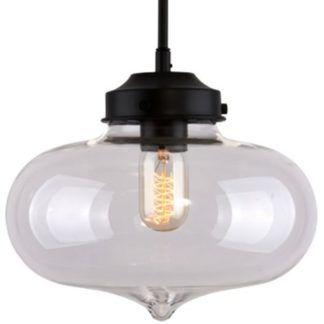 Szklana lampa wisząca London Loft - vintage