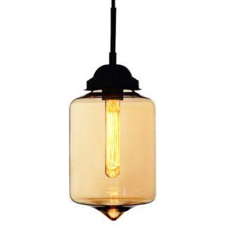 Szklana lampa wisząca London Loft - bursztynowa
