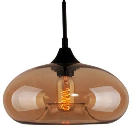 owalna lampa wisząca z barwionego szkła