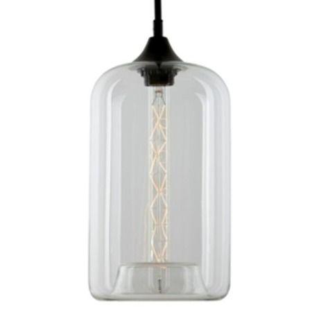podłużna szklana lampa wisząca do sypialni