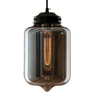 Lampa wisząca London Loft - dymione szkło