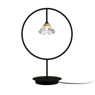 Designerska lampa stołowa Tiffany - czarna oprawa