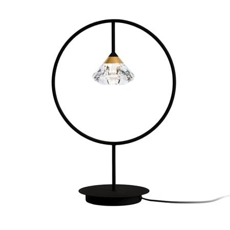 czarna lampa z diamencikiem