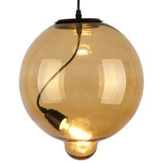 Oryginalna lampa wisząca Glass bubble - beżowa
