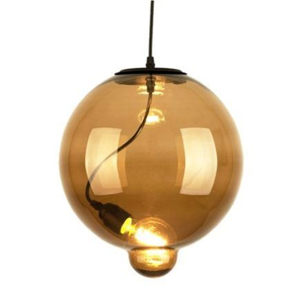 szklana lampa wisząca kula