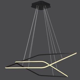 Ledowa lampa wisząca Shape - czarne kwadraty