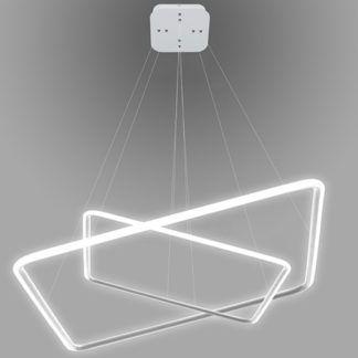 Designerska lampa wisząca Shape - białe kwadraty