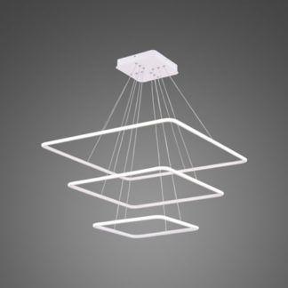 Designerska lampa wisząca Shape - ledowe kwadraty, 3000K
