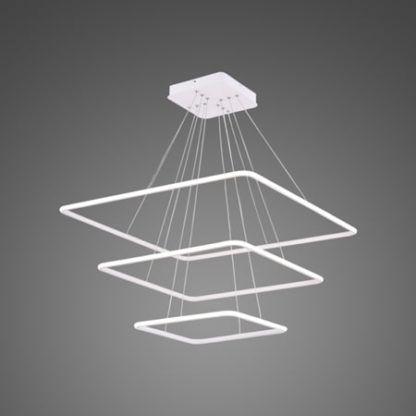 ledowa lampa wisząca białe kwadraty