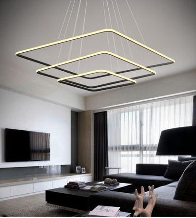 nowoczesna lampa wisząca led aranżacja salon