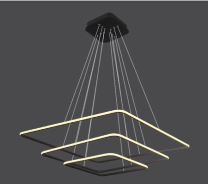 ledowa lampa wisząca czarne kwadraty nowoczesna