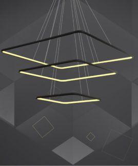 Lampa wisząca Shape - czarne kwadraty, LED