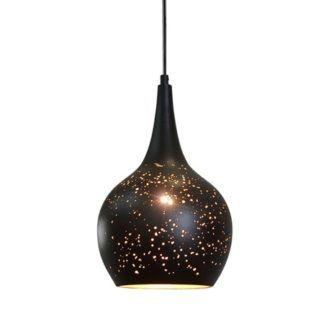 Stylowa lampa wisząca Magic Space - czarny klosz