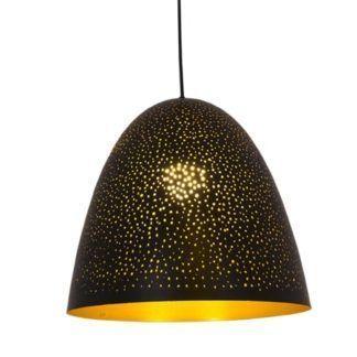 Czarna lampa wisząca Magic Space - duży klosz