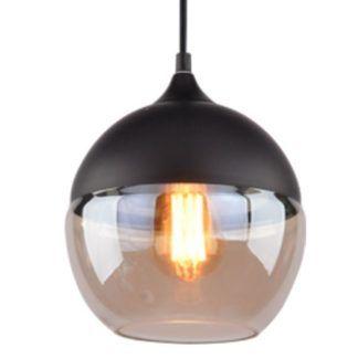 Okrągła lampa wisząca Manhattan - nowoczesna, szklana