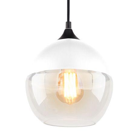 szklana lampa wisząca do jadalni