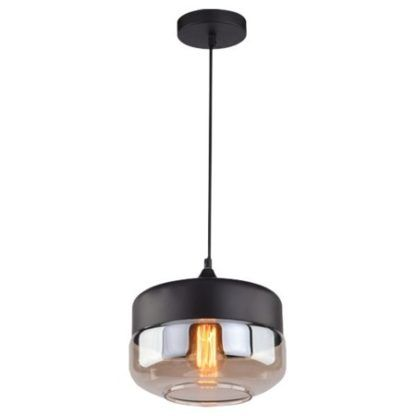 nowoczesna lampa wisząca ze szklanym kloszem do sypialni