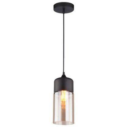 szklana lampa wisząca nad stolik kawowy