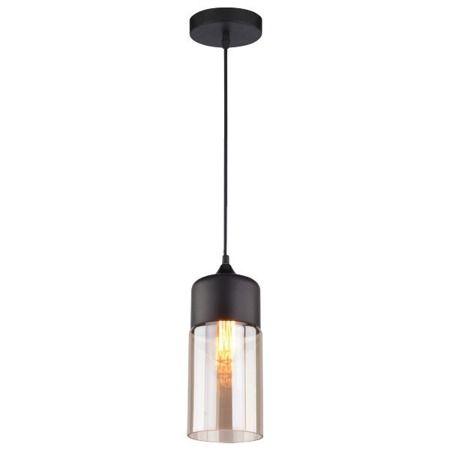 czarna nowoczesna lampa wisząca nad blat
