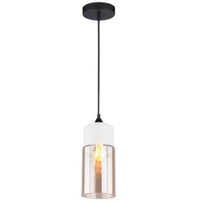 podłużna lampa wisząca ze szklanym kloszem