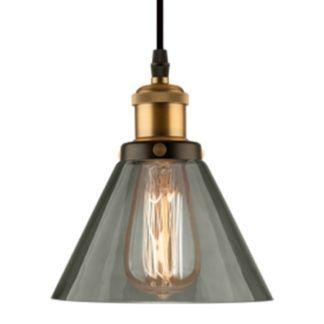 Szara lampa wisząca New York Loft No. 1 - industrialna