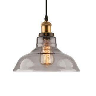 Industrialna lampa wisząca New York Loft No. 3 - szary klosz