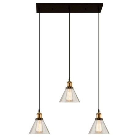 lampa wisząca vintage ze szklanym kloszem