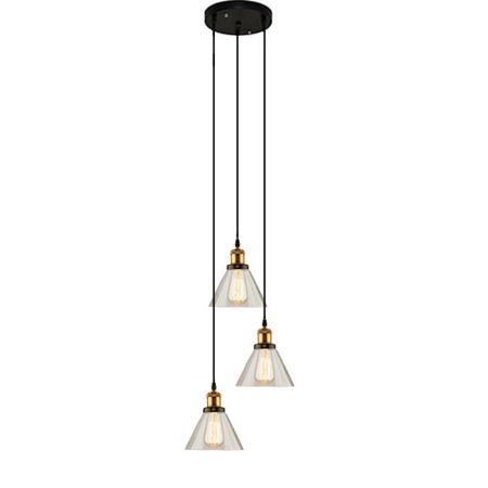 lampa wisząca ze szklanymi kloszami do salonu