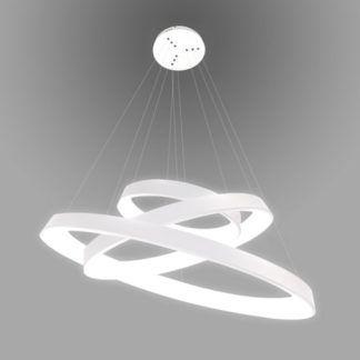 Biała lampa wisząca Vogue - LED, nowoczesna