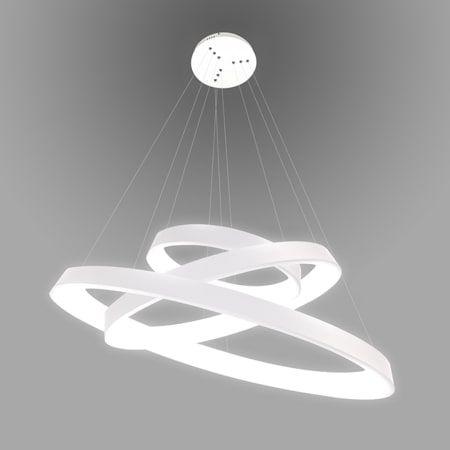 potrójna lampa wisząca led biała
