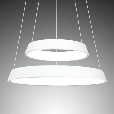 podwójna lampa wisząca led biała