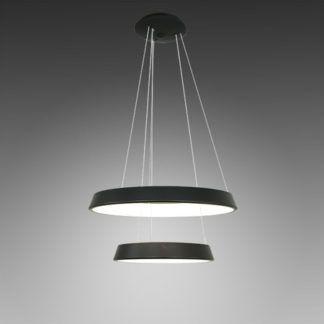 Czarna lampa wisząca Vogue - 2 ringi, LED