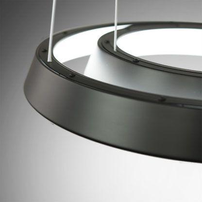 czarna lampa wisząca ledowe okręgi
