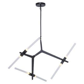 Szklana lampa wisząca Sticks 6 - czarne ramiona