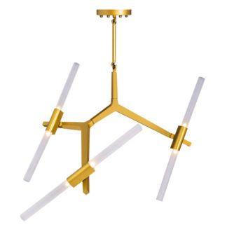 Designerska lampa wisząca szklana Sticks 6 - złota