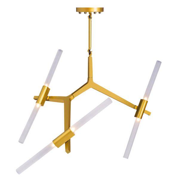 złoty mały żyrandol w stylu nowoczesnym