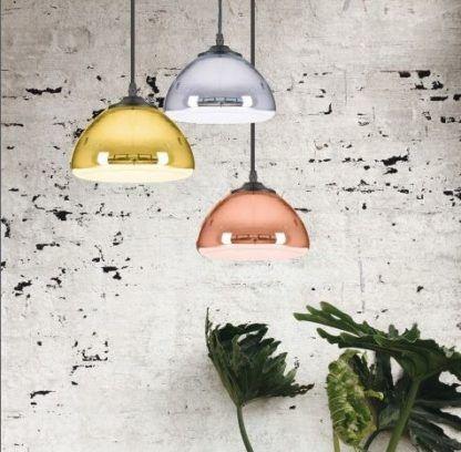 błyszczące lampy wiszące do salonu