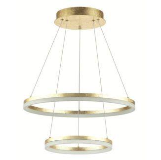 Podwójna lampa wisząca Golden - złota, LED