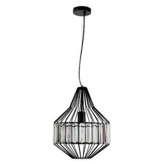 Oryginalna lampa wisząca Alvaro - czarna, druciana