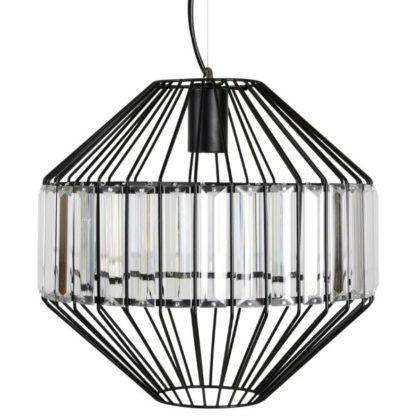 nowoczesna lampa wisząca metal i szkło