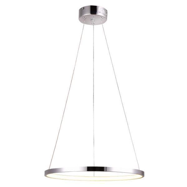 lampa wisząca srebrny okrąg led