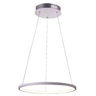 Biała lampa wisząca Lune - LED, nowoczesna